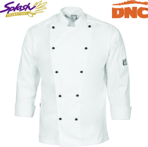 1104 - Cool-Breeze Cotton Chef Jacket - Long Sleeve