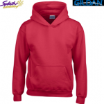 18600B-Classic Fit Youth Full Zip Hooded Sweatshirt
