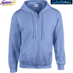 18600-Classic Fit Adult Full Zip Hooded Sweatshirt