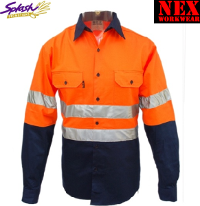 Hivis NEXcool Light Weight Work Long Sleeve Shirt with 3M