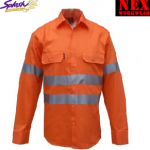 Hivis NEXcool Light Weight Ventilation Work Long Sleeve Shirt with 3M