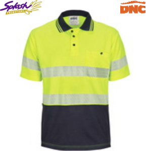 3511 HIVIS Segment Taped Mircomesh Polo - Short Sleeve