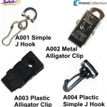 A001, A002, A003, A004 - Simple J Hook & Clip