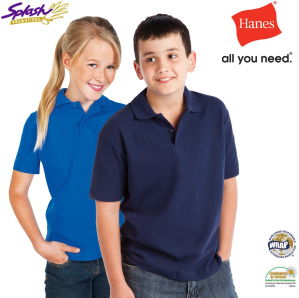 AU3200-Hanes Junior Heavyweight Cotton Polo