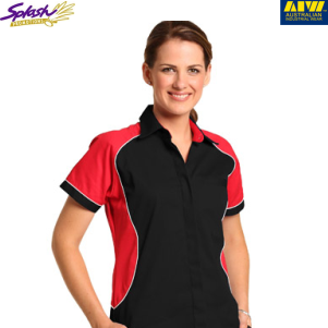BS16- Ladies Arena Tri-colour Contrast Shirt