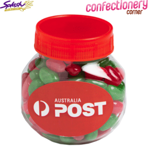 CCX0026A - Plastic Jar Filled With Christmas Jelly Beans 170G