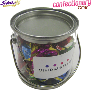 CCX019 - Small PVC Bucket Filled with Christmas Chocolate Eclairs 90G