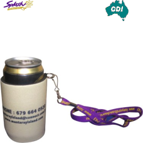 CDI-N02 - Stubby Holder with Handy Tag (Screen Print)