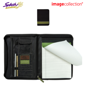 EC920 - Eco 100% Recycled Deluxe A4 Zippered Compendium