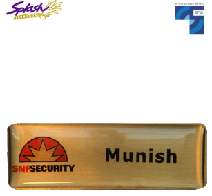 Electroplated Nickel Brass Name Badge