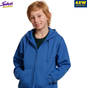 FL03K-Kids Double Bay Full Zip Fleecy Hoodie
