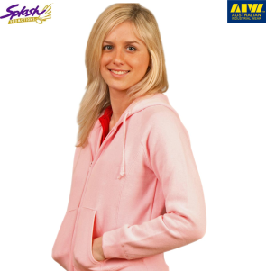 FL04-Ladies Double Bay Full Zip Fleecy Hoodie