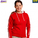 FL24-Ladies Contrast French Terry Hoodie