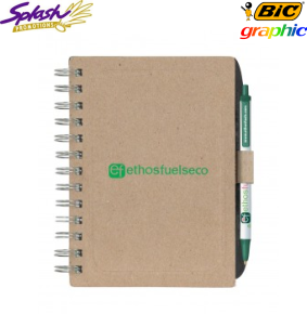 G4013.DE - BIC® Ecolutions® Chipboard Cover Notebook with Recycled Fibre