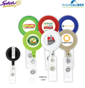 K-301e - BioGreen Round-Shaped Retractable Badge Holder