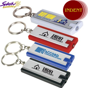 LL470 - Rectangular Flashlight Keytag (INDENT)