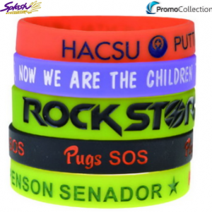 PCW006 - Debossed Colour Filled Wristband