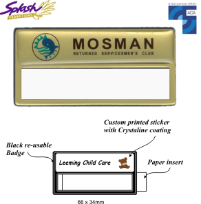 Re-Usable (Insert) Name Badge
