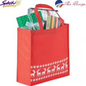 #SM-2174RD Holiday Shopper Gift Bag - Red