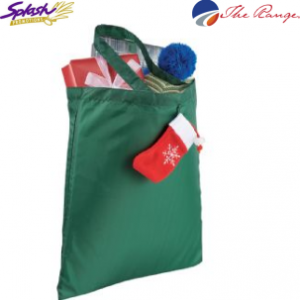 #SM-2175HG Holiday Stocking Tote - Hunter Green
