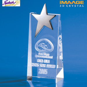 STW17 - Star Wedge Trophy 3D Crystal