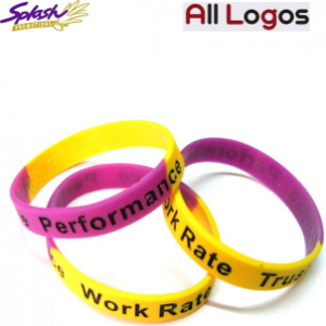 WB02 Debossed (sunken) Sectional Colour Wristband